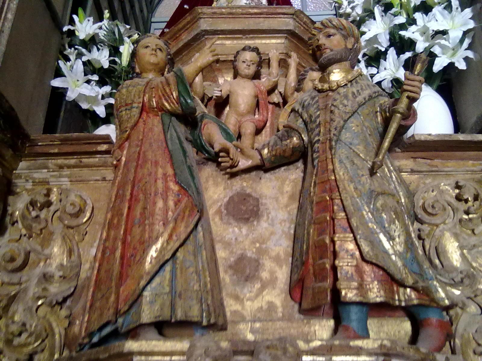 El Rey Jayón y su hija Erminda, en la ermita de la Virgen del Ara, en Fuente del Arco (Fotografía: Israel J. Espino)