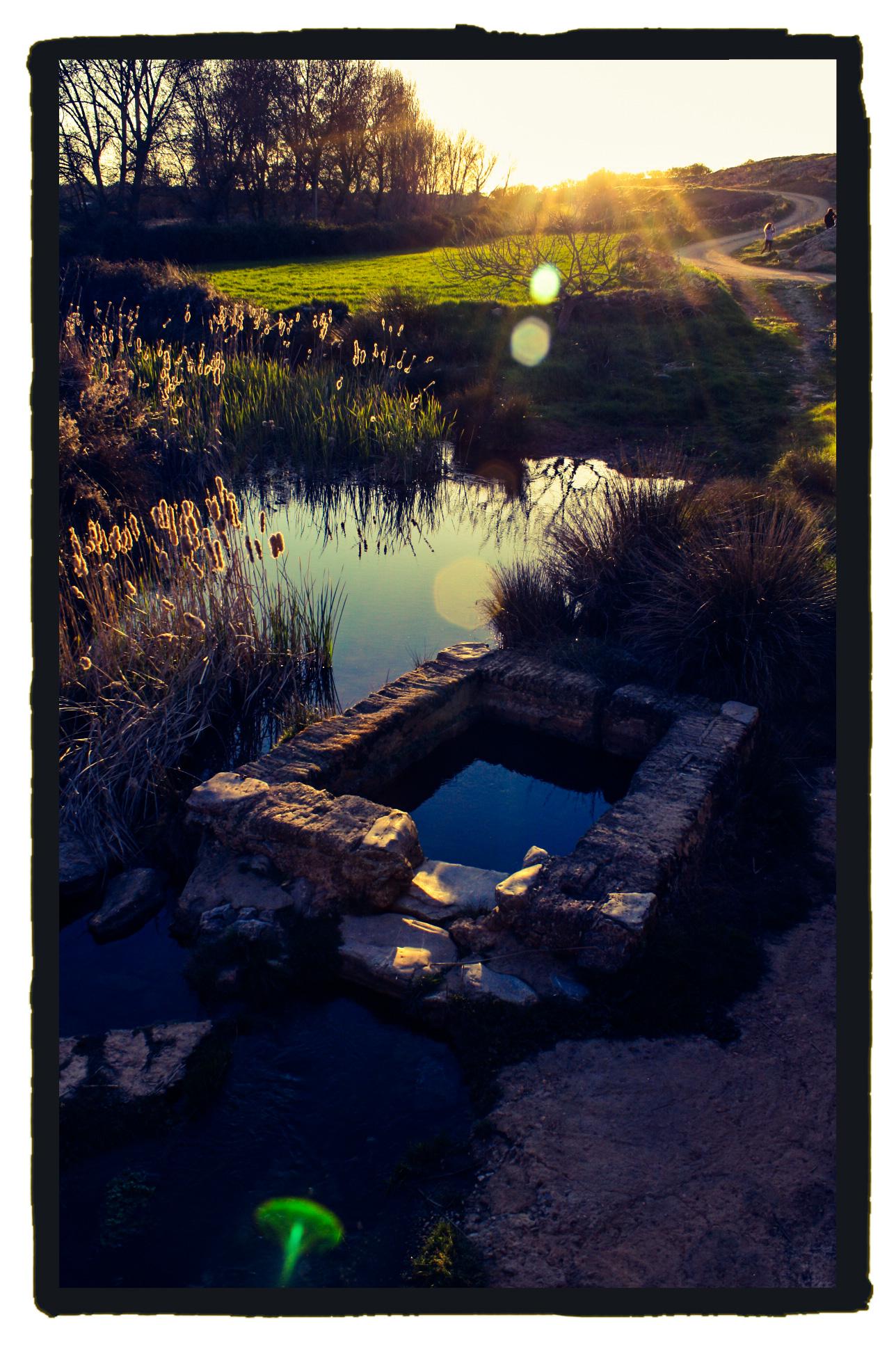 La fuente de la Luná, en Usagre, donde habita la Cantamora. (Israel J. Espino)
