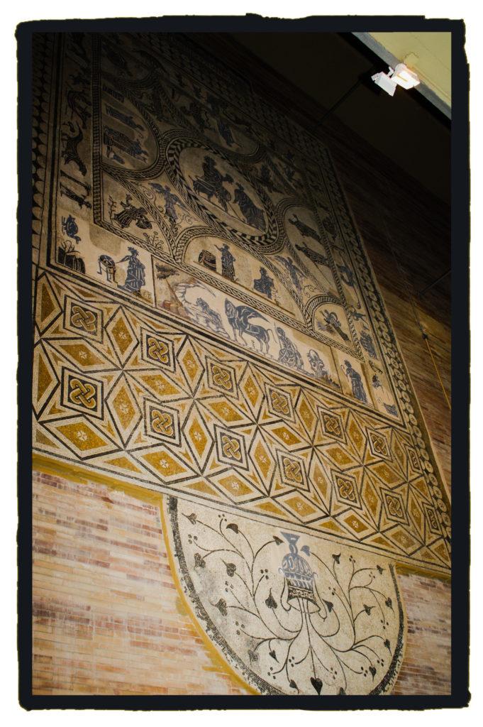 El mosaico nilótico, en el MNAR (Israel J. Espino)