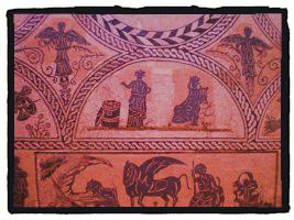 El mosaico nilótico,  a salvo en el MNAR  (Israel J. Espino)