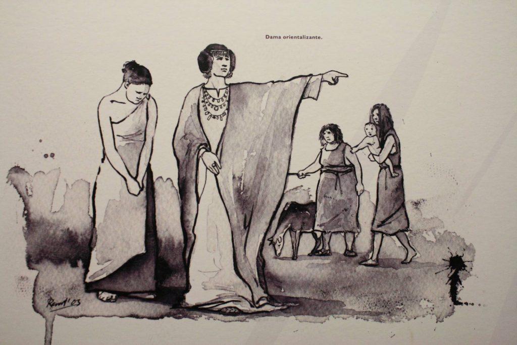 La princesa tartesia dueña del tesoro, según el CI Tesoro de Aliseda (A. Briz)