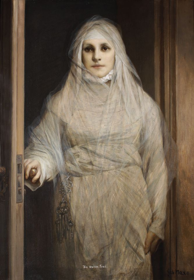 La Dama Blanca (Gabriel Von Max, 1900)