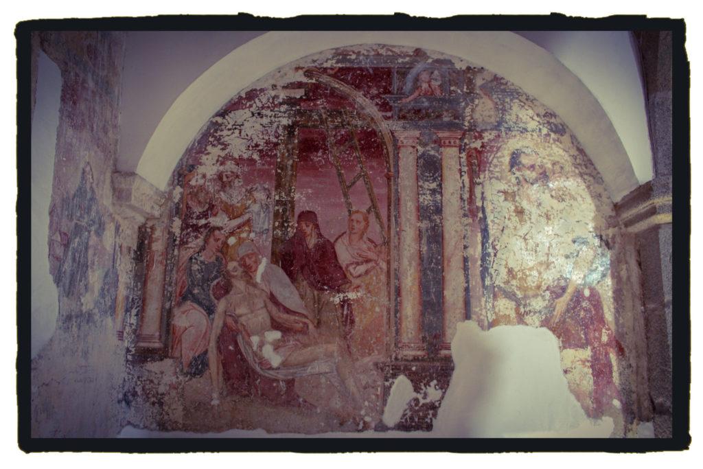 Las pinturas murales parecen guardar algunas claves (A. Briz)