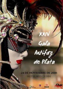 Cartel de la XXIV edición de la Gala de Los Antifaces de Plata