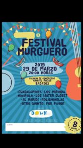 Cartel del VII Festival Murguero Down Badajoz
