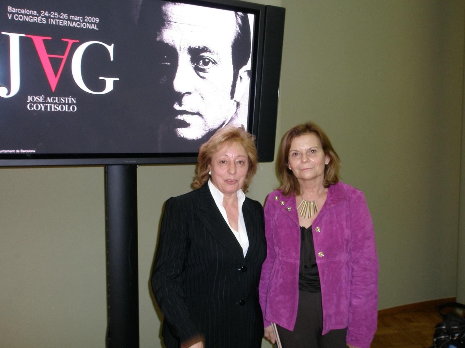 Junto a Carme Riera en el V Congreso Internacional dedicado a José Agustín Goytisolo