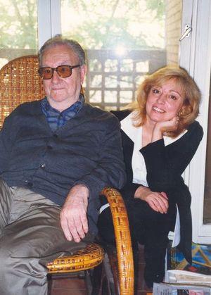 Junto al poeta Joan Brossa