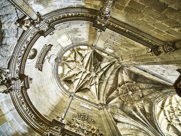 Bóveda cabecera ábside lateral./ Víctor Gibello.