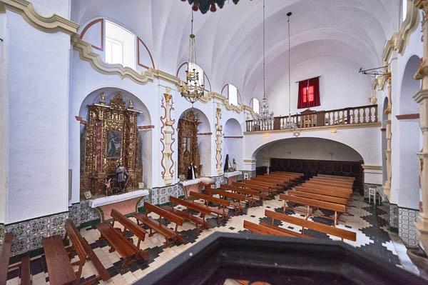 Vista de la nave del templo./ Víctor Gibello